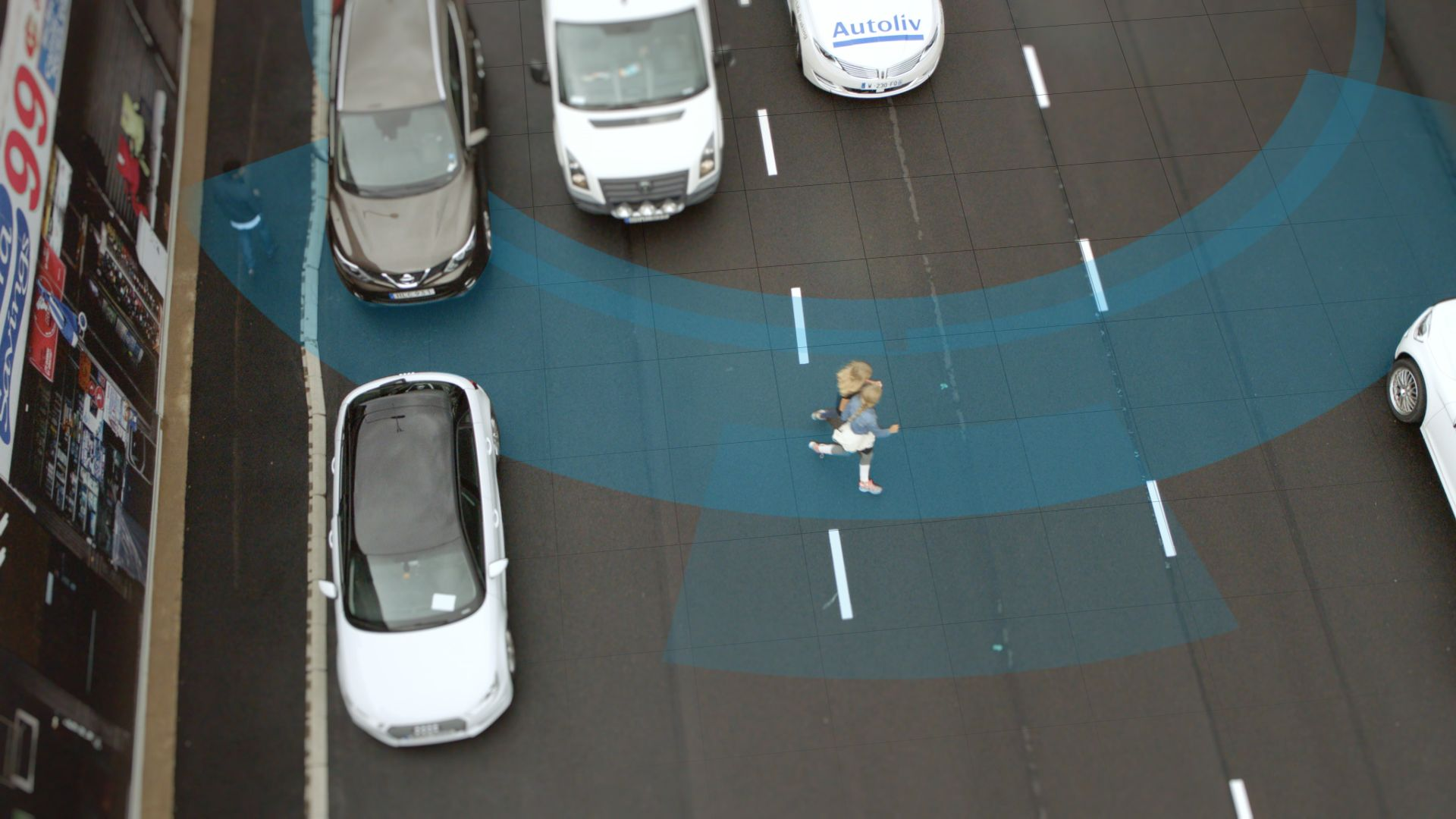 ALV_Sensor_Pedestrian Detection_Real Life Traffic Situation (ped crossing)_Illustration